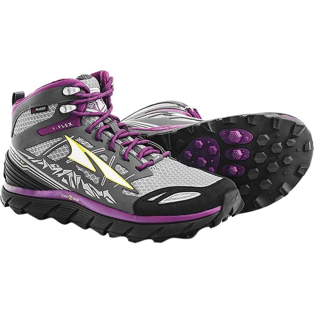 アルトラ レディース 陸上 シューズ・靴【Altra Lone Peak 3.0 Mid NeoShell Shoe】Grey / Purple