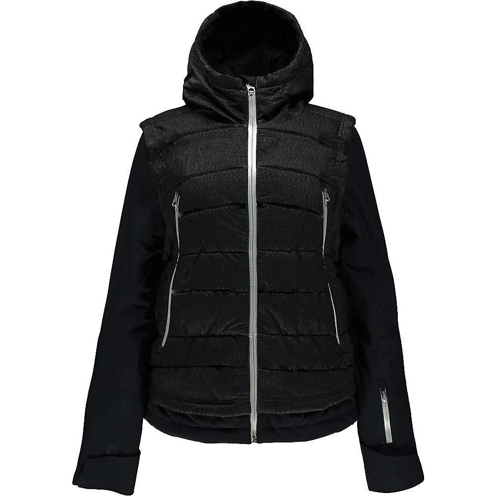 スパイダー レディース スキー・スノーボード アウター【Spyder Moxie Jacket】Black Denim / Black / Silver