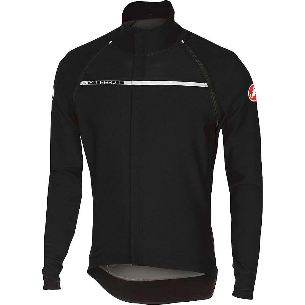 カステリ メンズ 自転車 アウター【Castelli Perfetto Convertible Jacket】Light Black