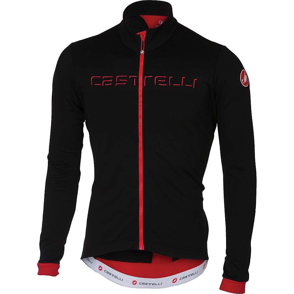 カステリ メンズ 自転車 トップス【Castelli Fondo FZ Jersey】Black / Red