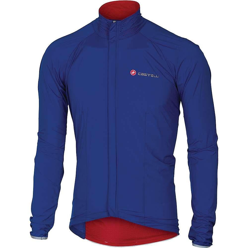 カステリ メンズ 自転車 アウター【Castelli Sempre Jacket】Surf Blue