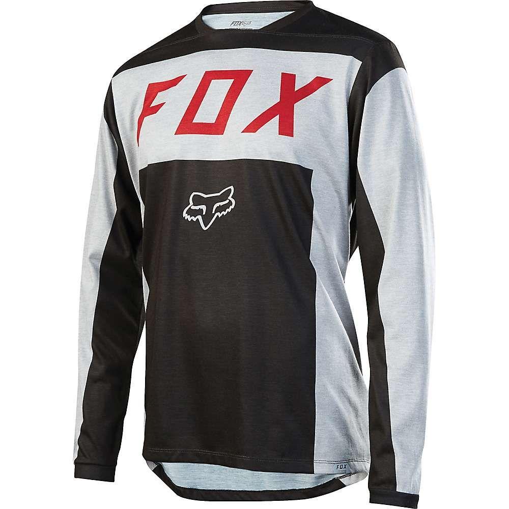 フォックス メンズ 自転車 トップス【Fox Indicator Moth LS Jersey】Light Grey