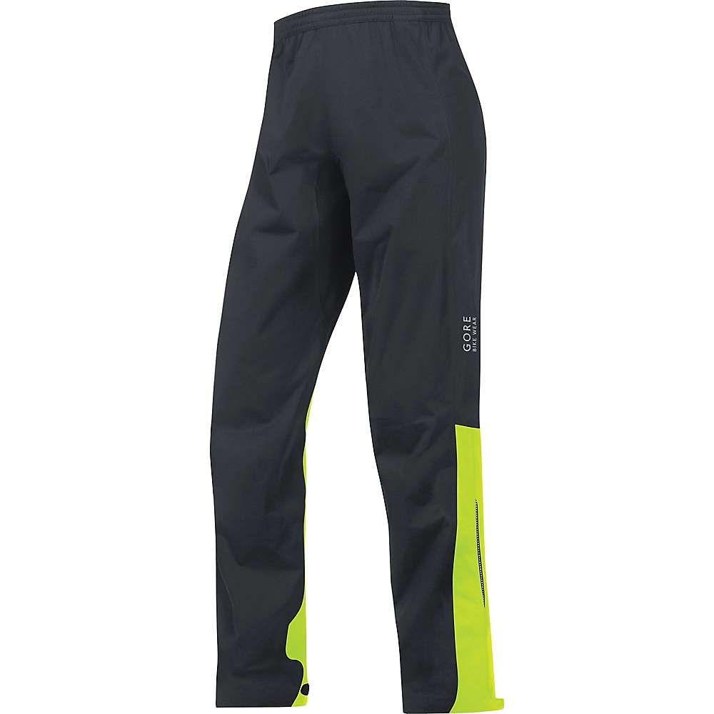 ゴア メンズ 自転車 ボトムス・パンツ【Gore Bike Wear Element GTX Active Pant】Black / Neon Yellow