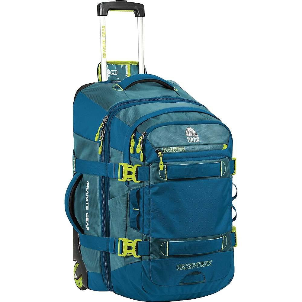 グラナイトギア メンズ バッグ スーツケース・キャリーバッグ【Granite Gear Cross-Trek Wheeled carry-on with Removable 28L pack】Bleumine / Blue Frost / Neolime
