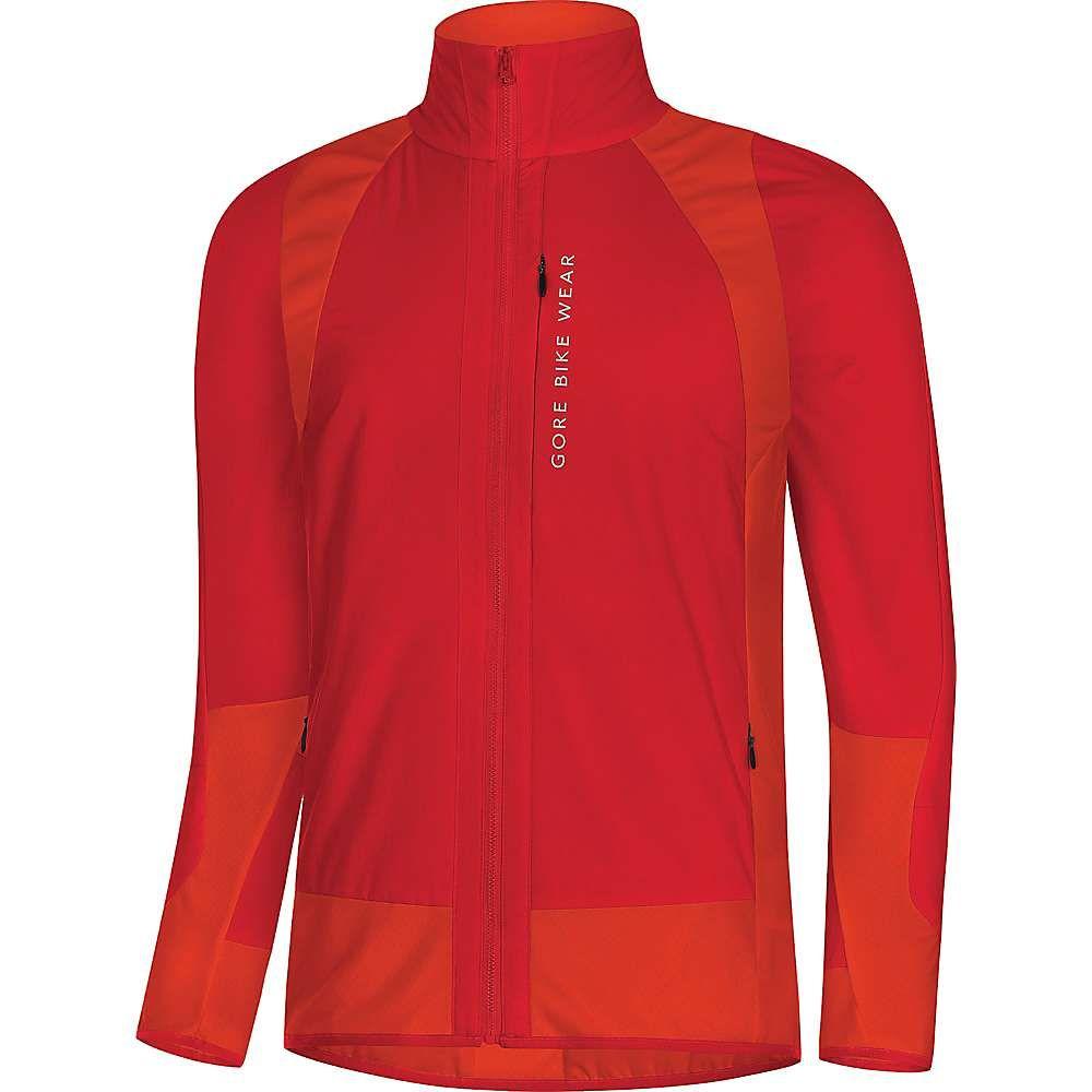 ゴア メンズ 自転車 アウター【Gore Bike Wear Power Trail GTX Windstopper Insulated Partial Jacket】Red / Orange.Com