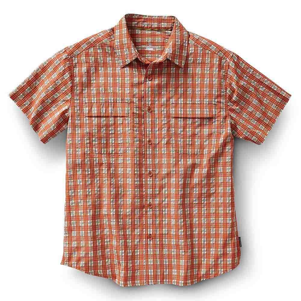 ロイヤルロビンズ メンズ トップス 半袖シャツ【Royal Robbins Diablo Plaid SS Shirt】Salsa