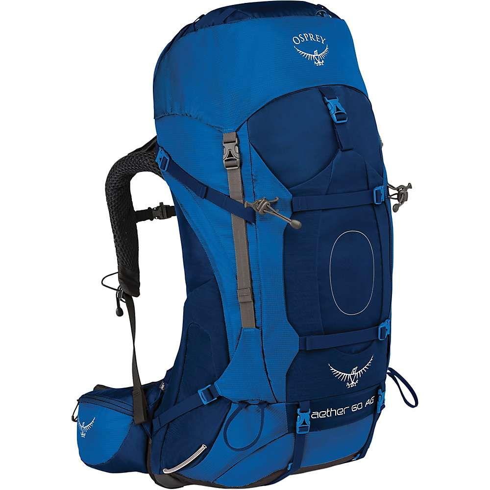 オスプレー メンズ ハイキング・登山【Osprey Aether AG 60 Pack】Neptune Blue