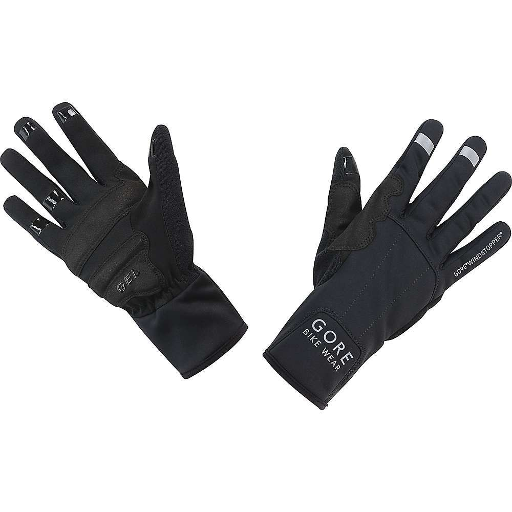 ゴア メンズ 自転車 グローブ【Gore Bike Wear Universal Gore Windstopper Mid Glove】Black