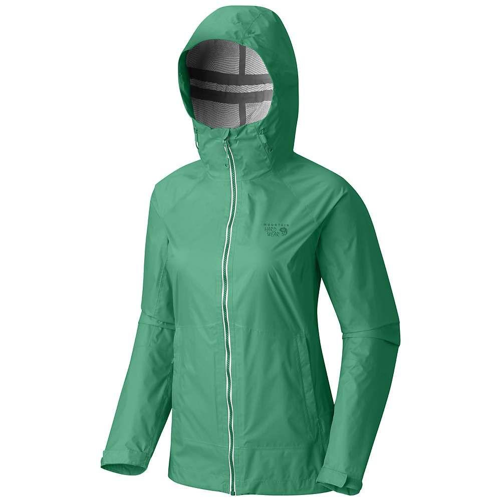 マウンテンハードウェア レディース アウター レインコート【Mountain Hardwear Exponent Jacket】Green Mile