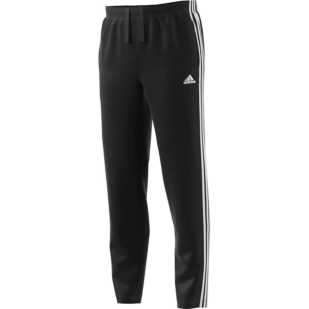 アディダス メンズ ハイキング・登山 ボトムス・パンツ【Adidas Essential 3S Tapered Fleece Pant】Black / White