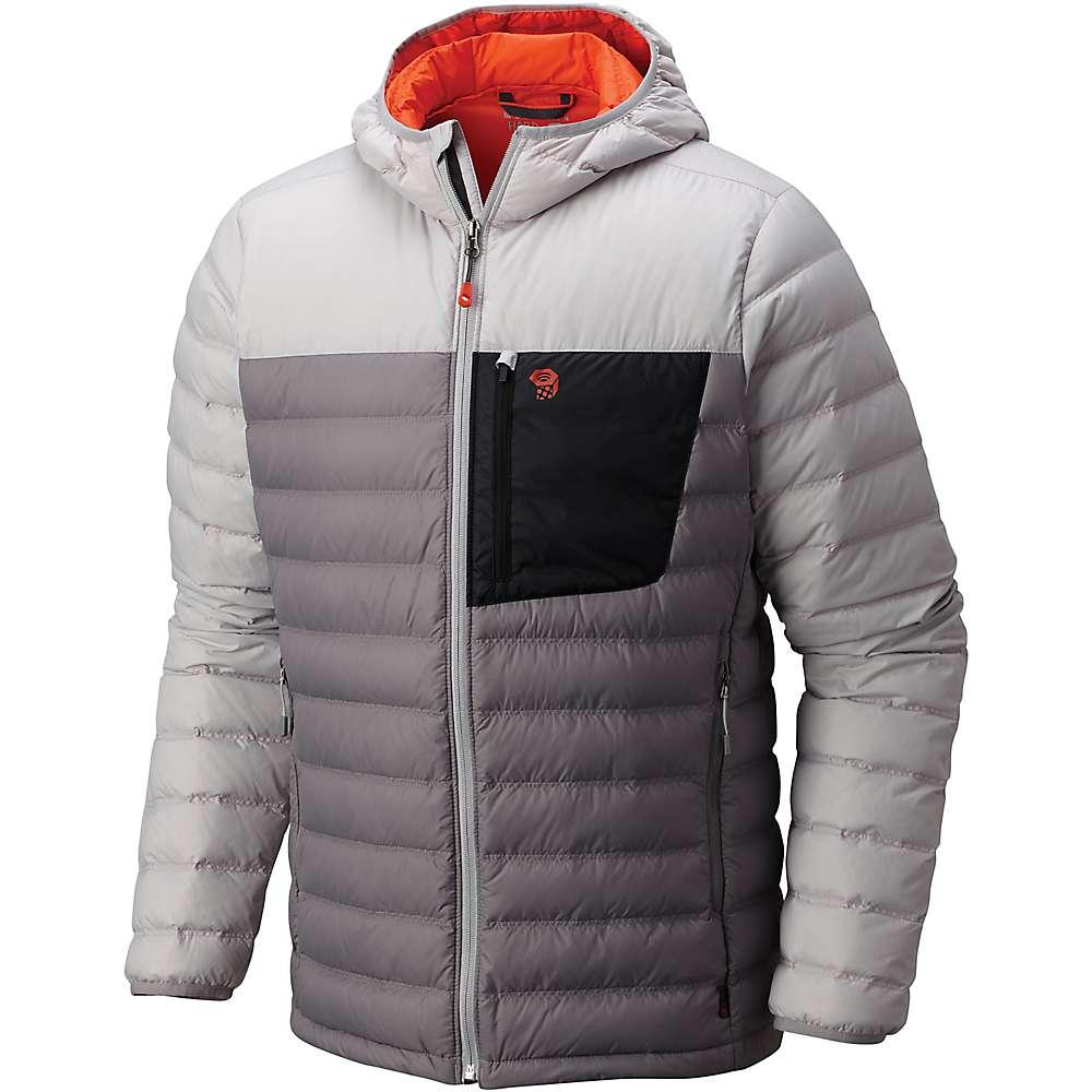 マウンテンハードウェア メンズ ハイキング・登山 アウター【Mountain Hardwear Dynotherm Down Hooded Jacket】Manta Grey / Grey Ice