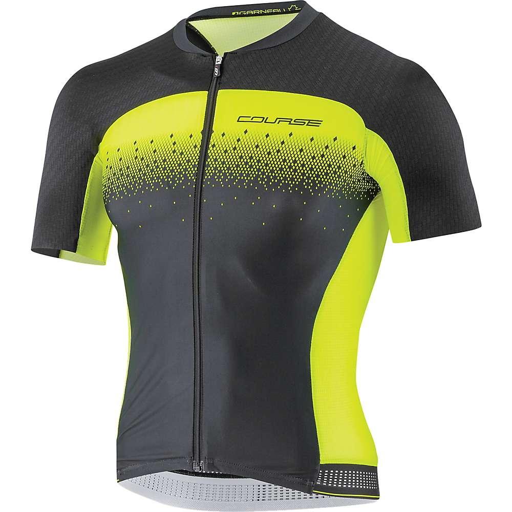 ルイスガーナー メンズ 自転車 トップス【Louis Garneau Course M-2 Race Jersey】Black / Bright Yellow
