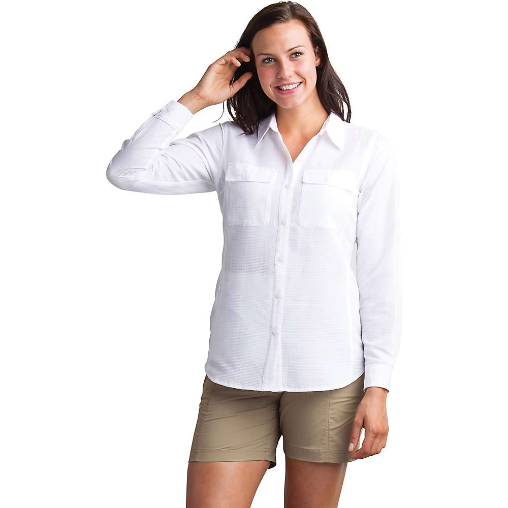 エクスオフィシオ レディース ハイキング 登山 トップス White 値引き LS 即出荷 Rotova サイズ交換無料 ExOfficio Shirt
