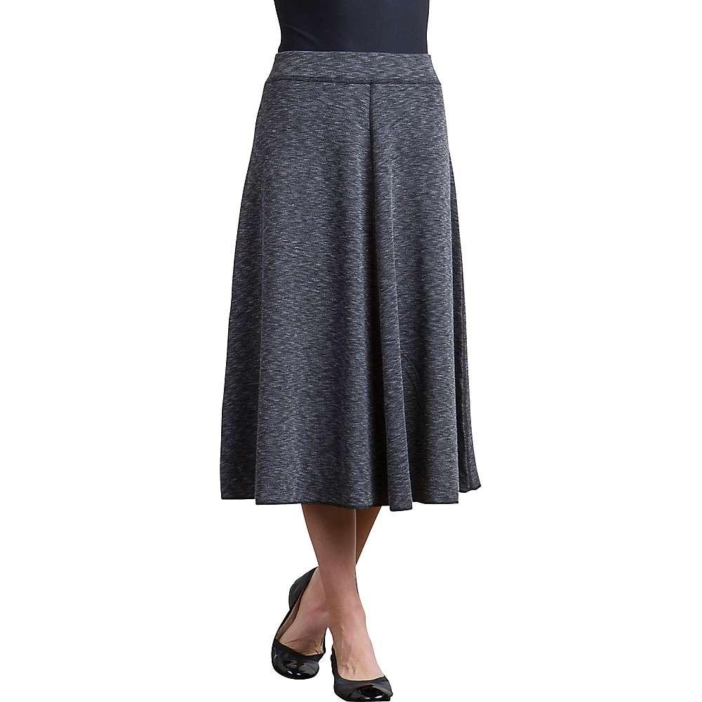 エクスオフィシオ レディース ハイキング・登山 ボトムス・パンツ【ExOfficio Cordova Reversible Midi Skirt】Black Marl / Black