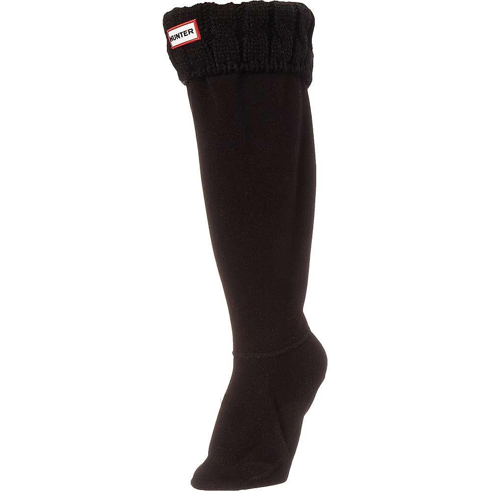 ハンター レディース インナー・下着 ソックス【Hunter Original 6 Stitch Cable Tall Boot Sock】Black