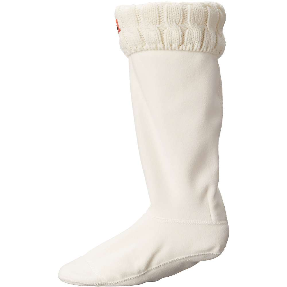 ハンター レディース インナー・下着 ソックス【Hunter Original 6 Stitch Cable Tall Boot Sock】Natural White