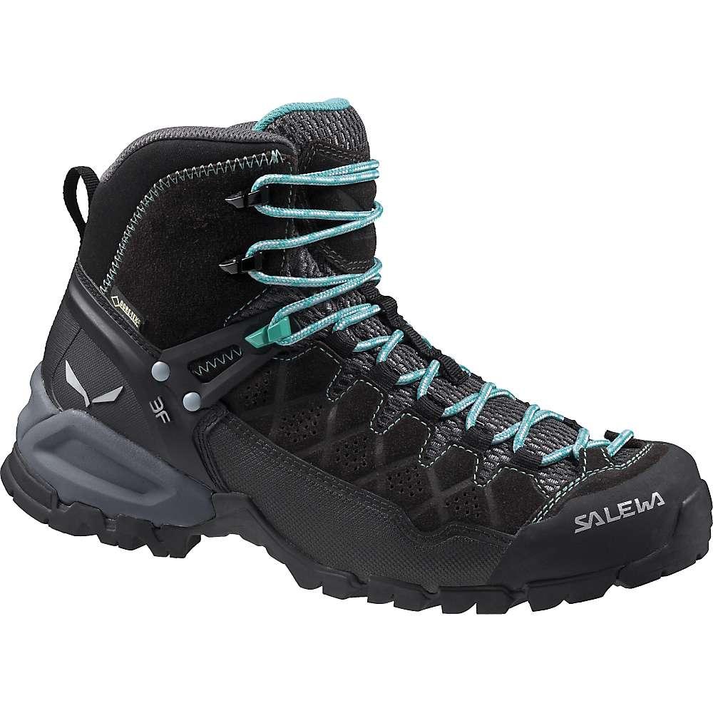 サレワ レディース ハイキング・登山 シューズ・靴【Salewa Alpine Trainer GTX Mid Boot】Black Out / Agata