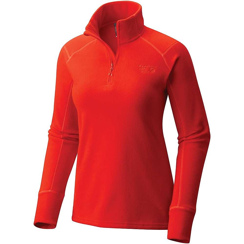マウンテンハードウェア レディース ハイキング・登山 トップス【Mountain Hardwear MicroChill 2.0 Zip T】Fiery Red