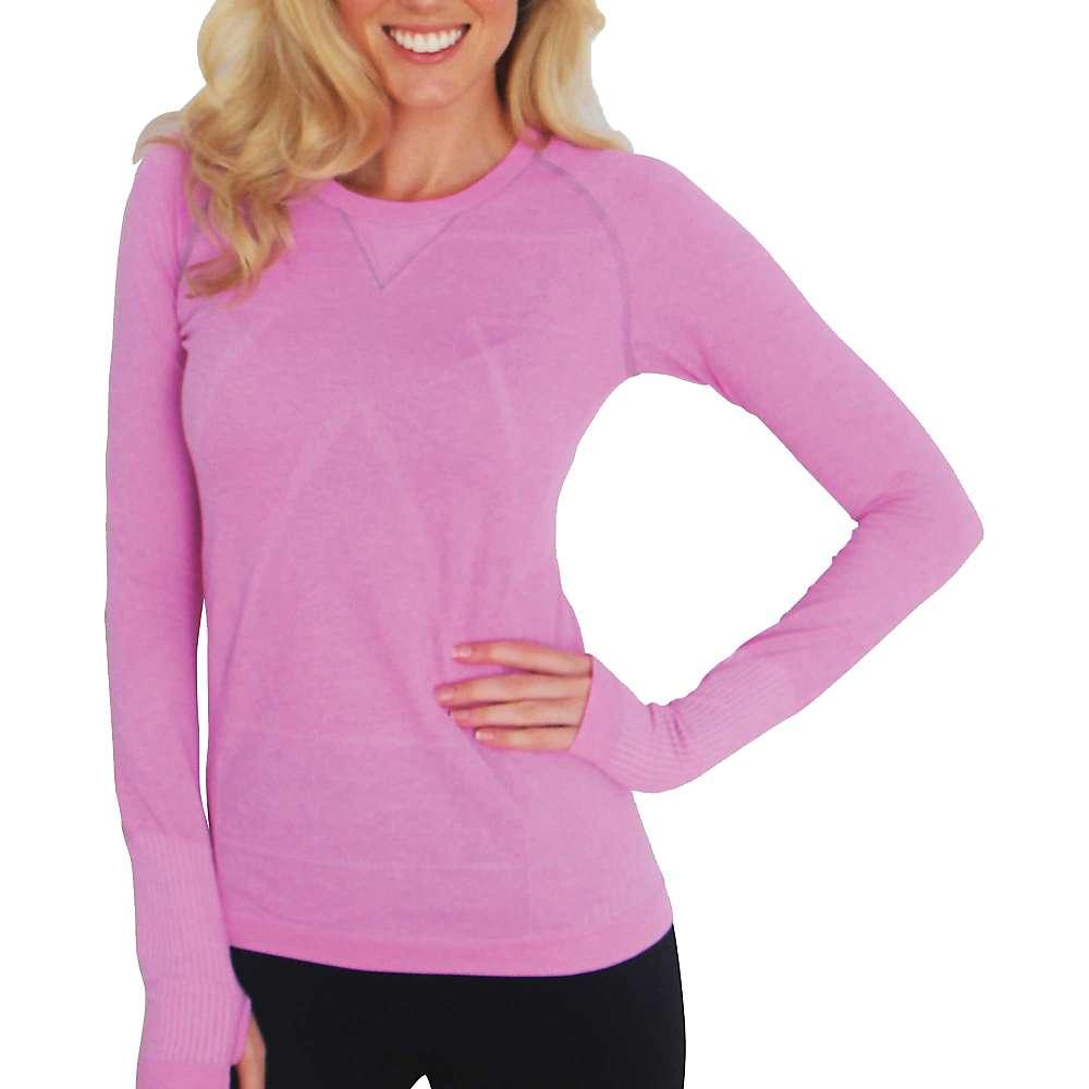 ゼンサー レディース ランニング・ウォーキング トップス【Zensah Run Seamless L/S Shirt】Heather Pink