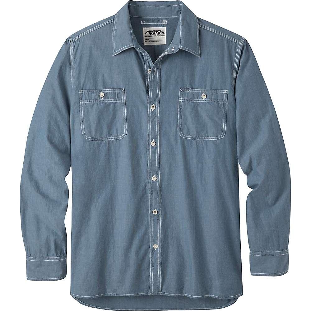 マウンテンカーキス メンズ ハイキング・登山 トップス【Mountain Khakis Mountain Chambray LS Shirt】Steel Blue
