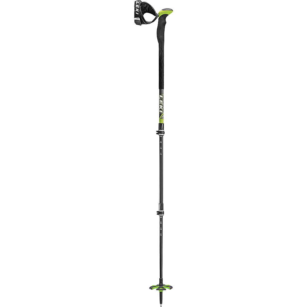 レキ ユニセックス スキー・スノーボード【Leki Aergon 3V Backcountry Poles】Black/Grey/Lime