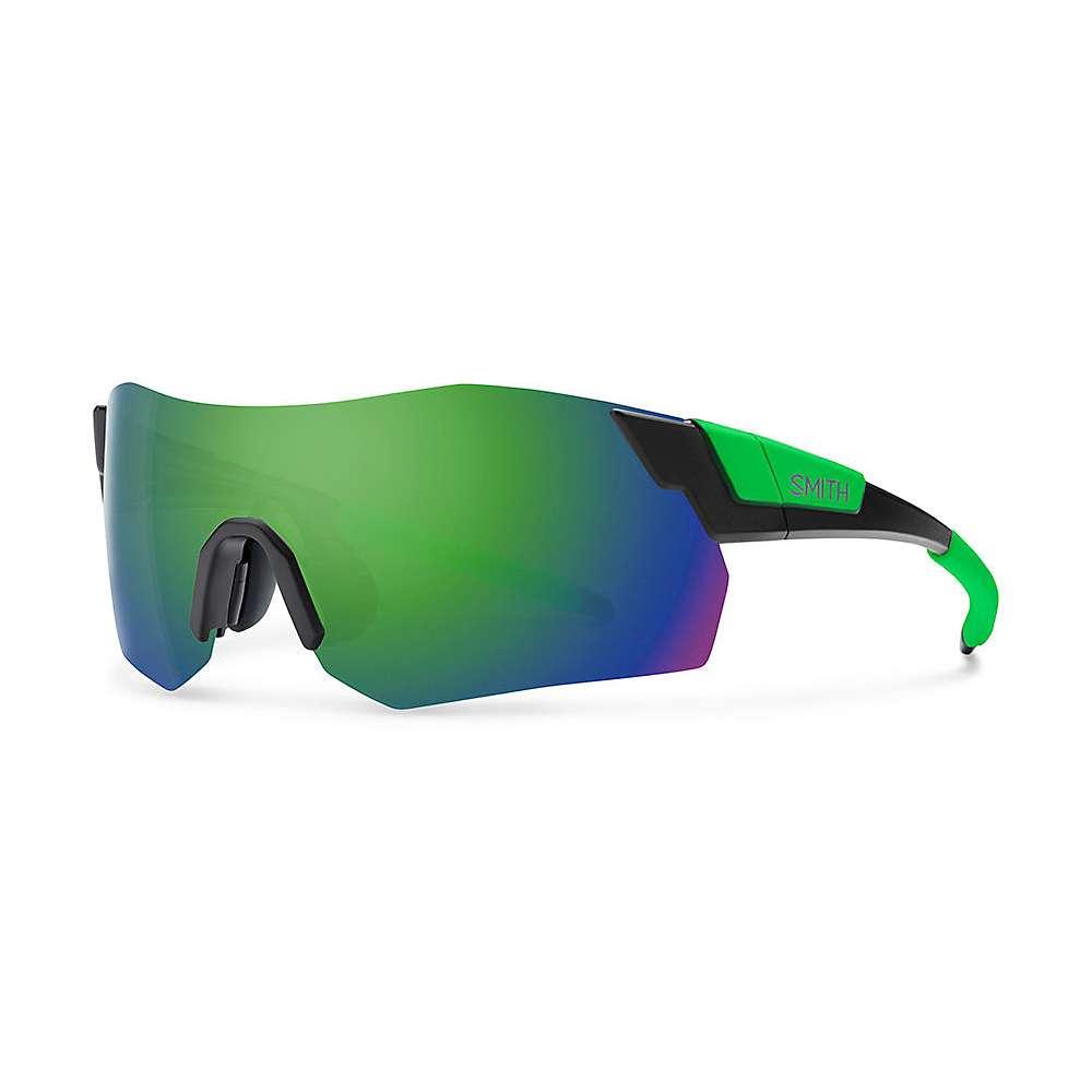 スミス ユニセックス スポーツサングラス【Smith Pivlock Arena Max ChromaPop Sunglasses】Matte Black Reactor / Sun Green Mirror