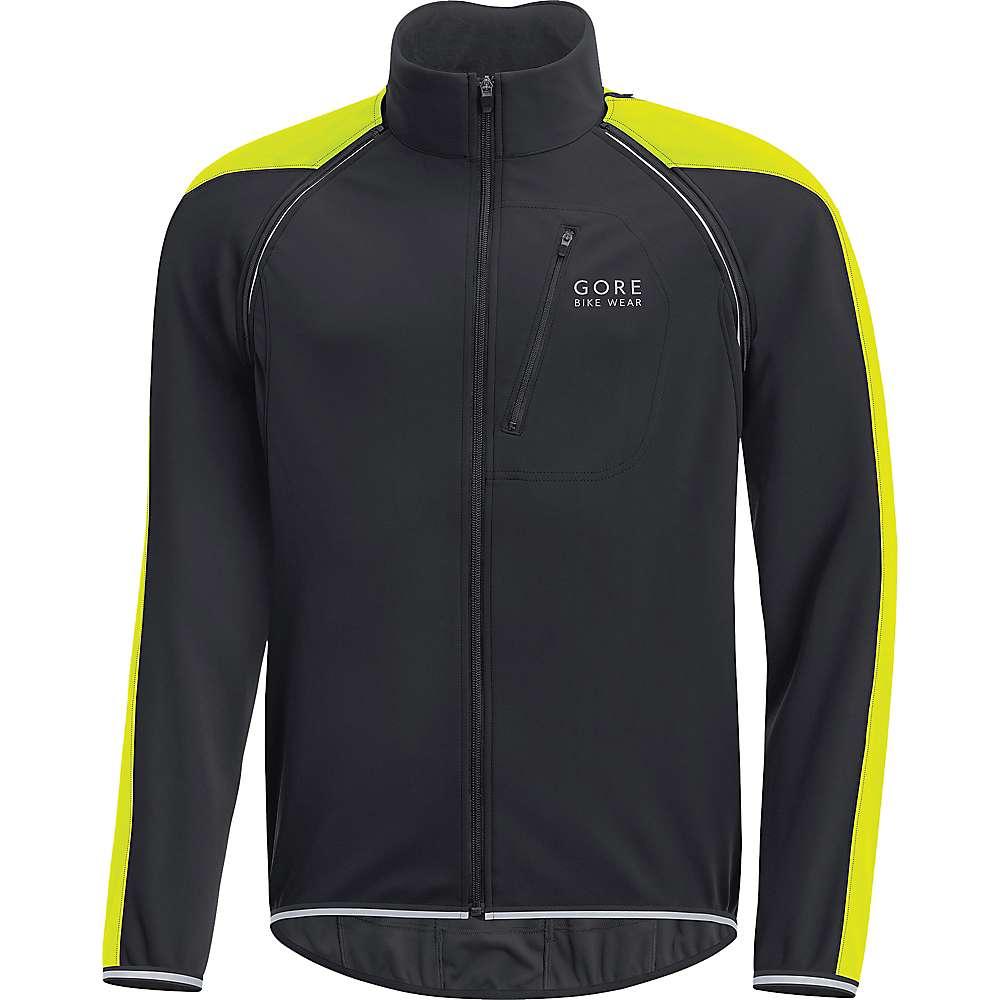 ゴア メンズ 自転車 アウター【Gore Bike Wear Phantom Plus Gore Windstopper Zip Off Jacket】Black / Neon Yellow