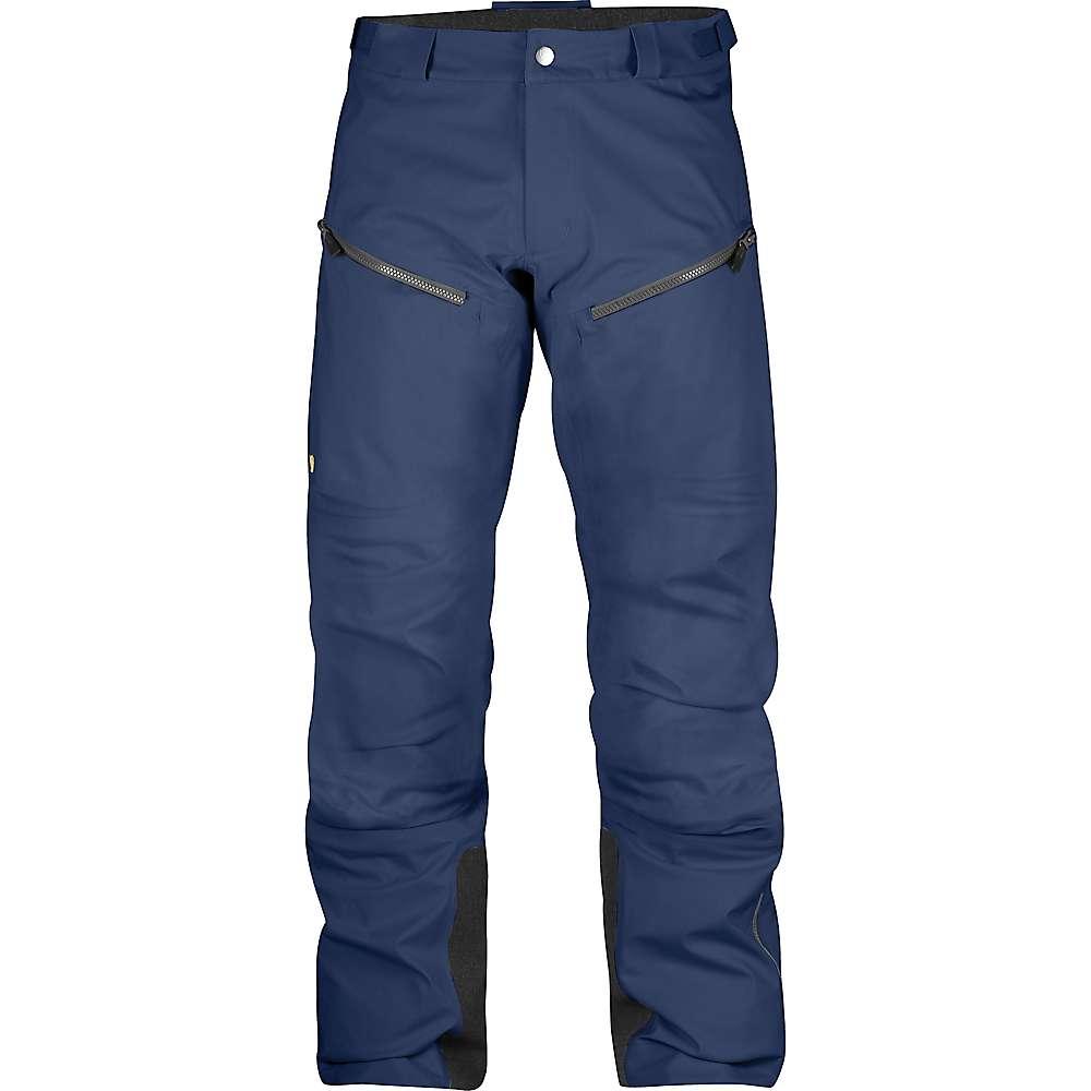 フェールラーベン メンズ ハイキング・登山 ボトムス・パンツ【Fjallraven Bergtagen Eco Shell Trouser】Mountain Blue