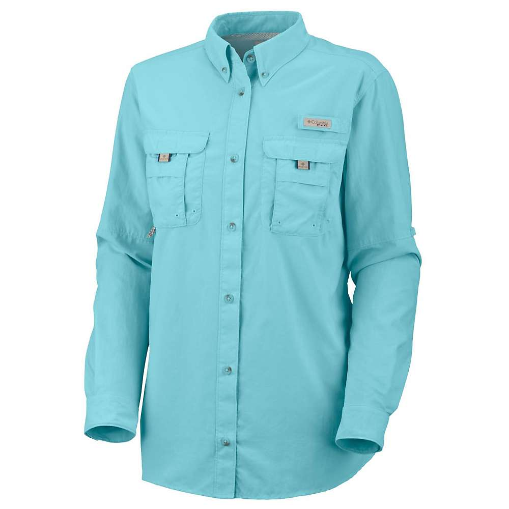 訳あり コロンビア レディース ハイキング レディース・登山 Blue トップス【Columbia Bahama Bahama LS Shirt】Clear Blue, 白滝村:596f3508 --- canoncity.azurewebsites.net