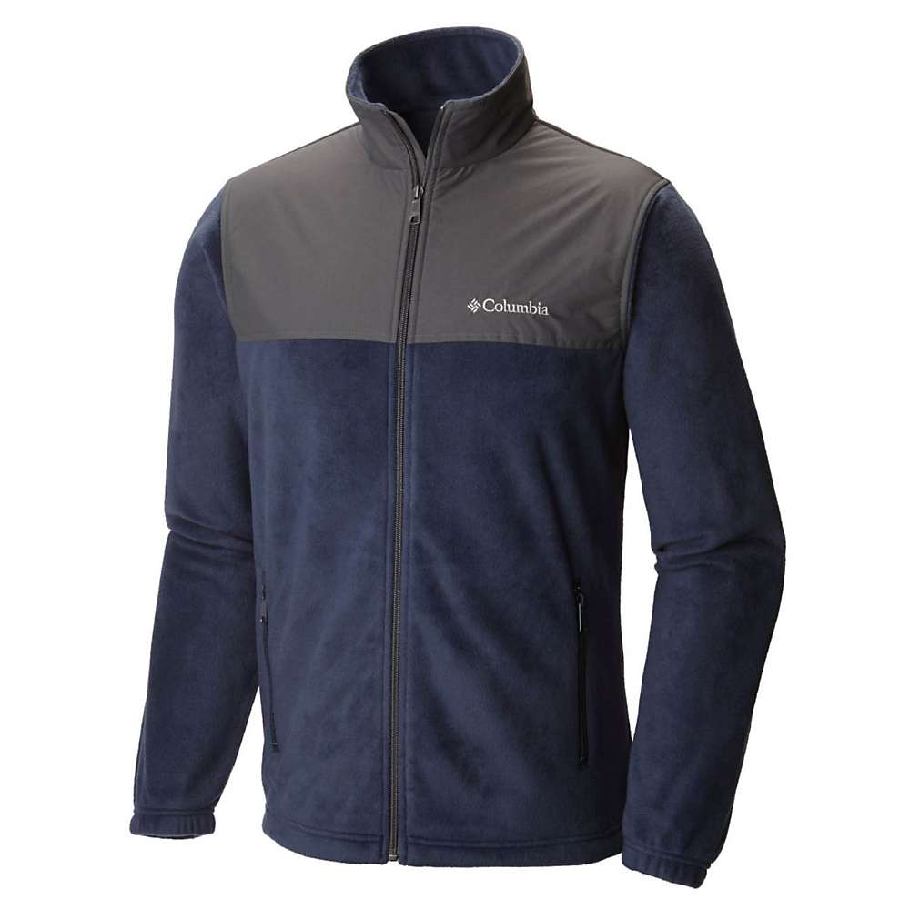 コロンビア メンズ ハイキング・登山 アウター【Columbia Steens Mountain Tech II Full Zip Jacket】Collegiate Navy / Grill