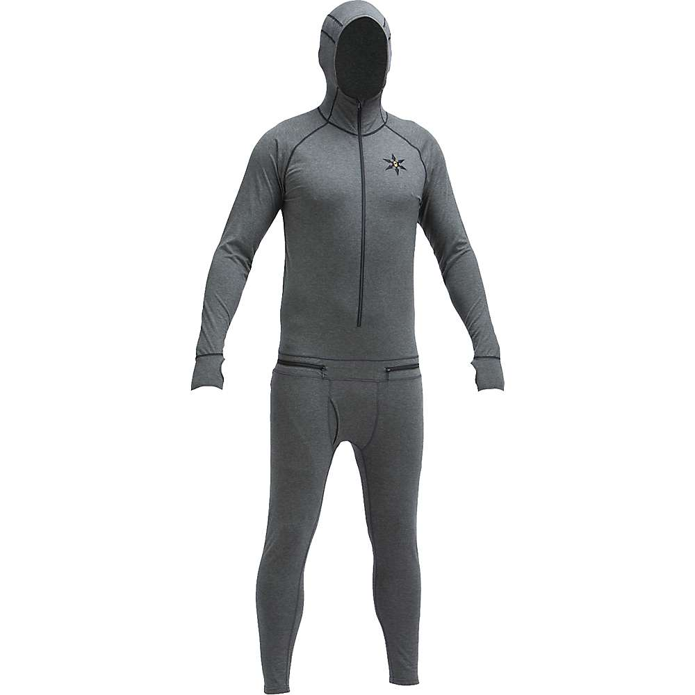 エアブラスター メンズ ハイキング・登山 トップス【Airblaster Merino Ninja Suit】Natural Black