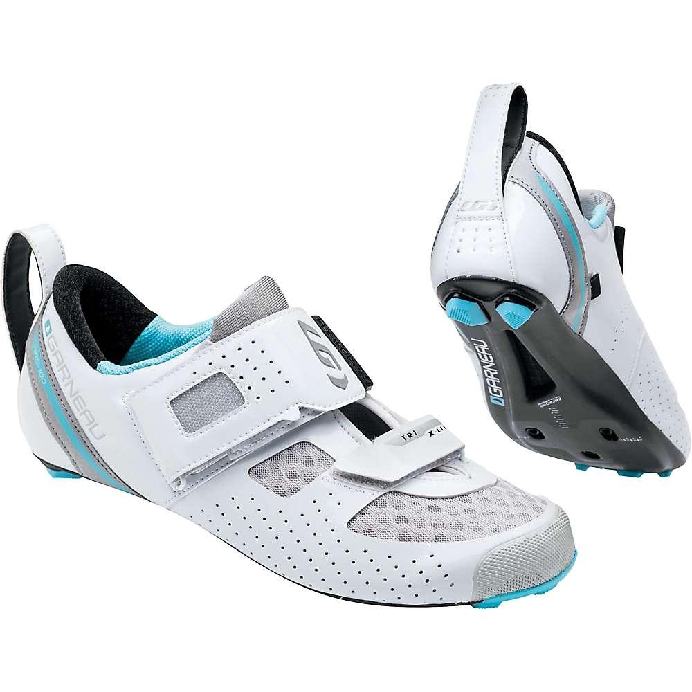 ルイスガーナー レディース 自転車 シューズ・靴【Louis Garneau Tri X-Lite II Shoe】White / Blue Fish