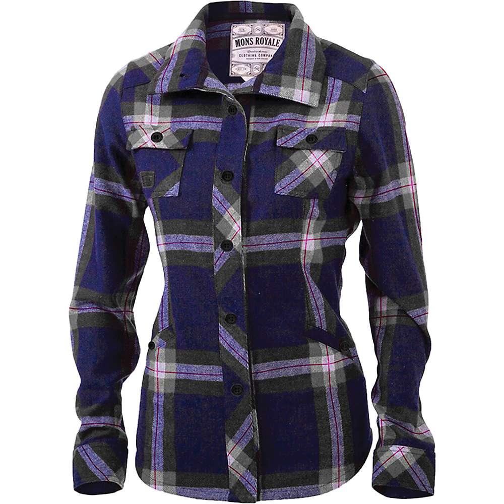 モンスロイヤル レディース ハイキング・登山 トップス【Mons Royale Mountain Shirt】Navy / Charcoal Check