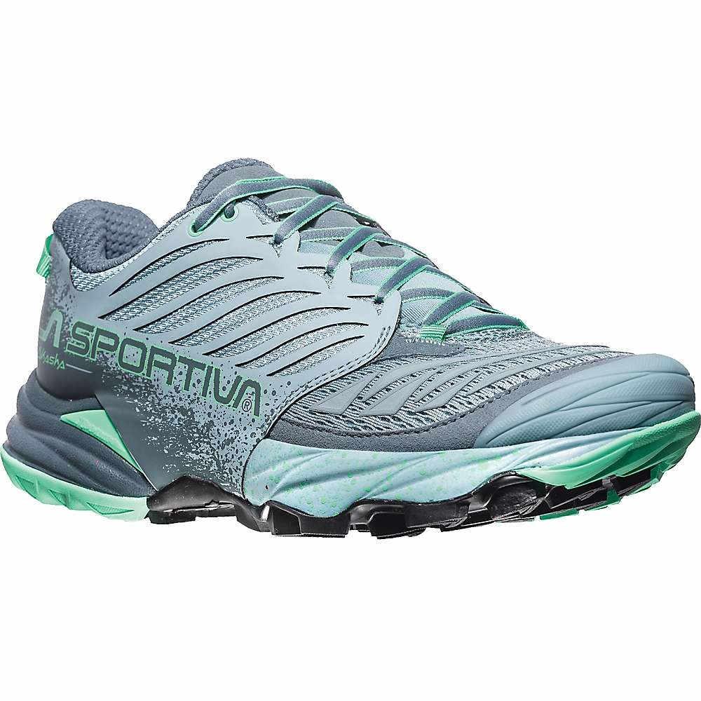 ラスポルティバ レディース 陸上 シューズ・靴【Akasha Shoe】Stone Blue / Jade Green