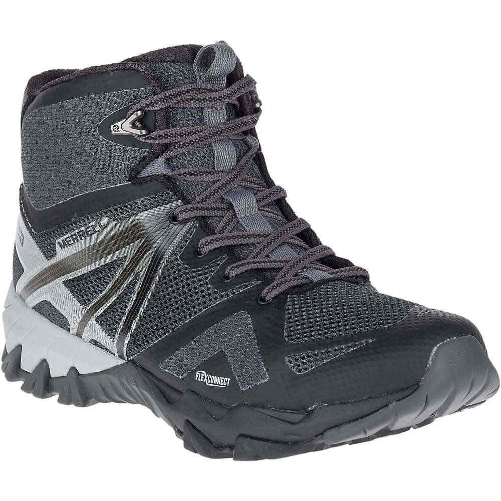 メレル メンズ ハイキング・登山 シューズ・靴【MQM Flex Mid Waterproof Shoe】Black