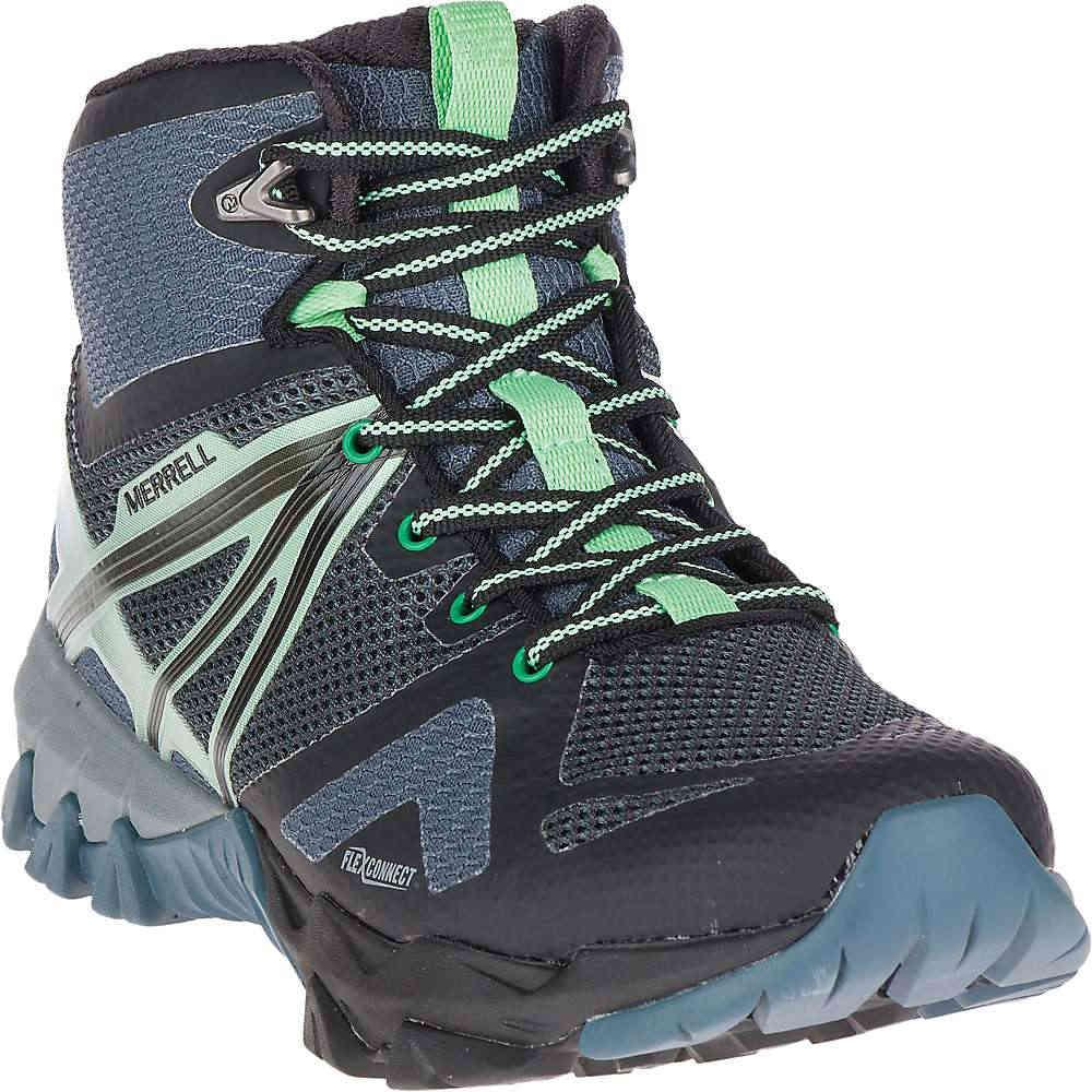 メレル レディース ハイキング・登山 シューズ・靴【MQM Flex Mid Waterproof Shoe】Grey / Black