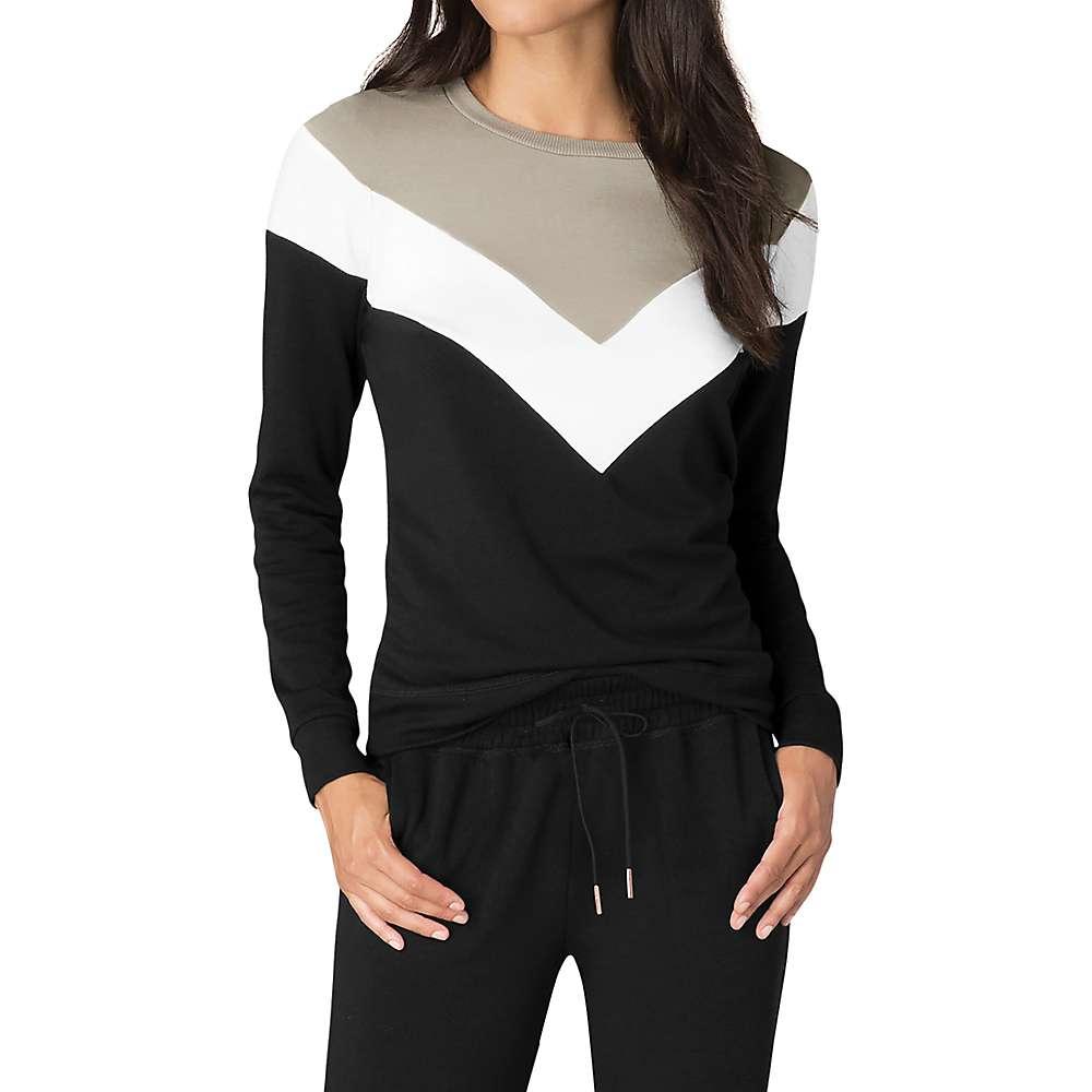ビヨンドヨガ レディース トップス スウェット・トレーナー【Living Easy Chevron Sweatshirt】Black Timber Colorblock