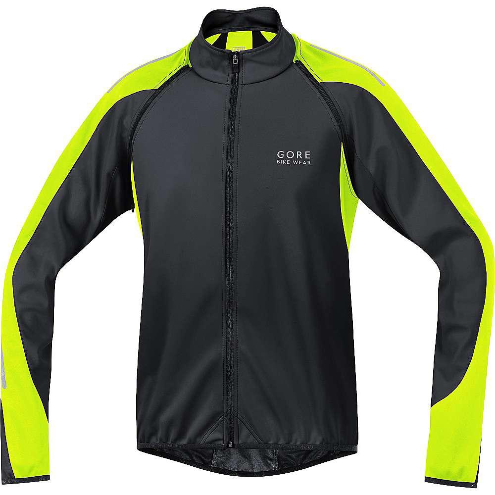 ゴア メンズ 自転車 アウター【Bike Wear Phantom 2.0 Windstopper Soft Shell Jacket】Black / Neon Yellow