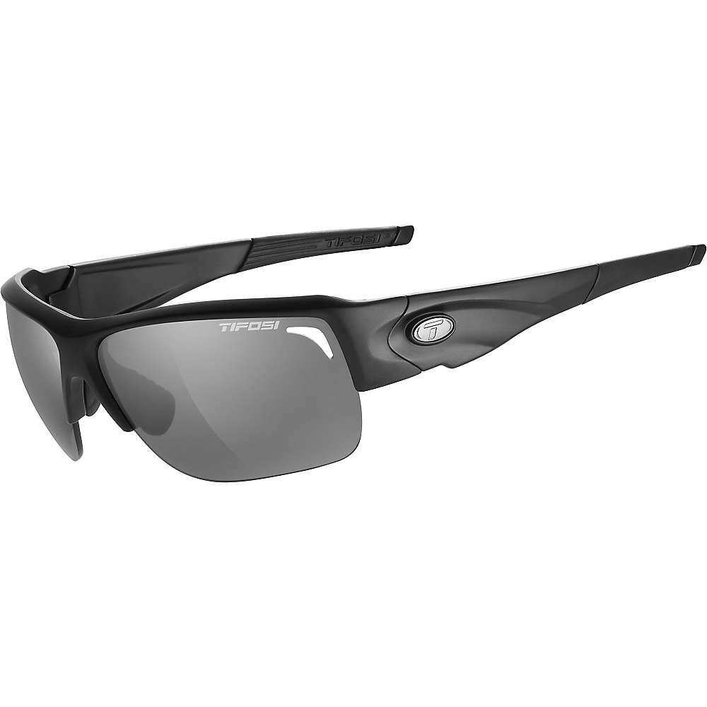 ティフォージ メンズ スポーツサングラス【Tifosi Elder Sunglasses】Matte Black / Smoke / AC Red / Clear