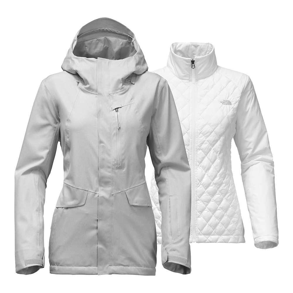 ザ ノースフェイス レディース スキー・スノーボード アウター【ThermoBall Snow Triclimate Jacket】TNF Light Grey Heather (Std)