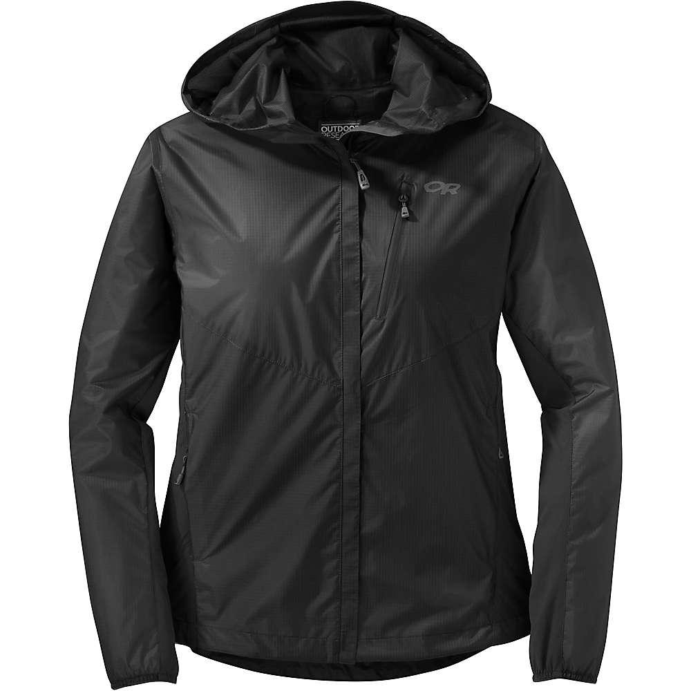 アウトドアリサーチ レディース アウター レインコート【Helium Hybrid Hooded Jacket】Black