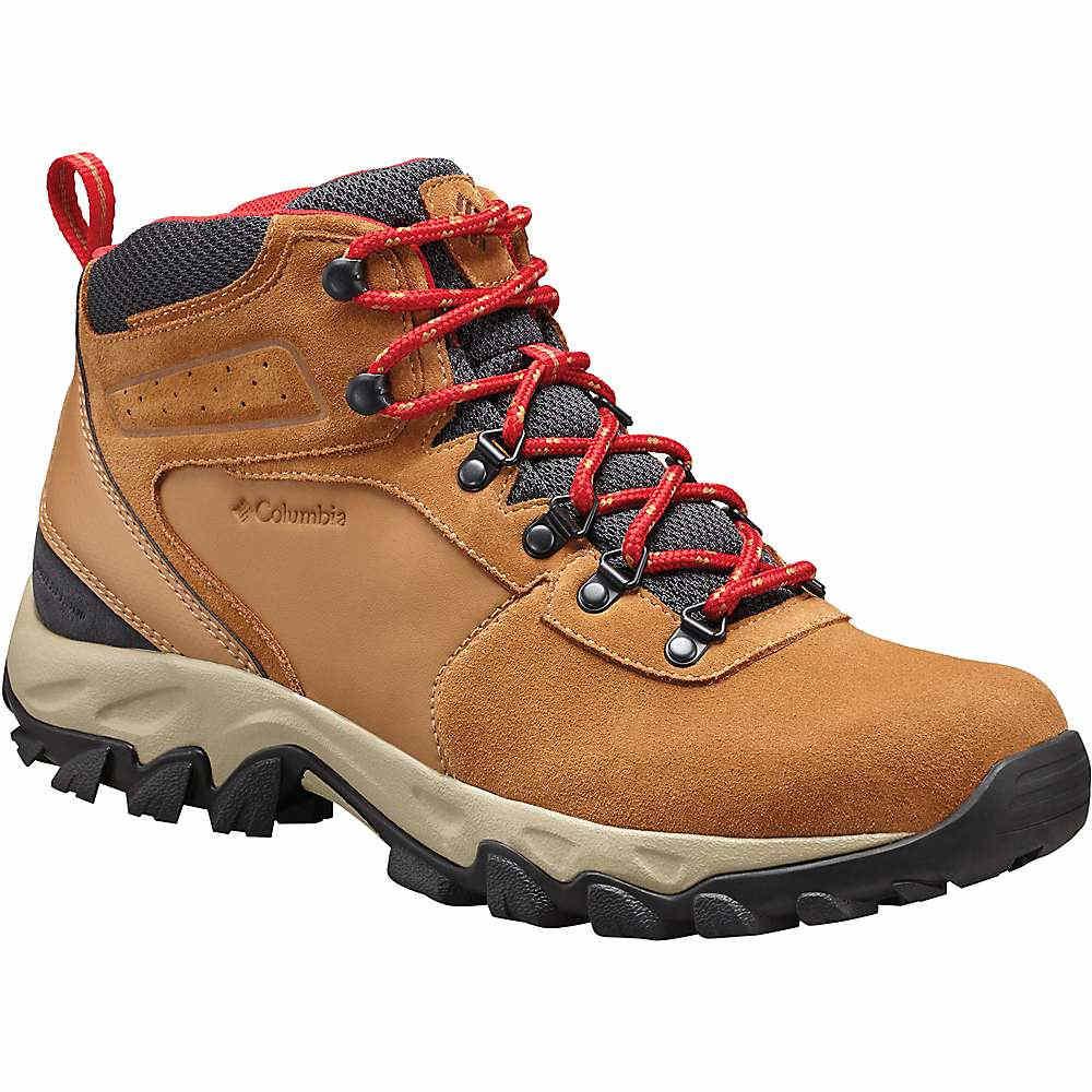 コロンビア メンズ ハイキング・登山 シューズ・靴【Columbia Newton Ridge Plus II Suede WP Boot】Elk / Mountain Red