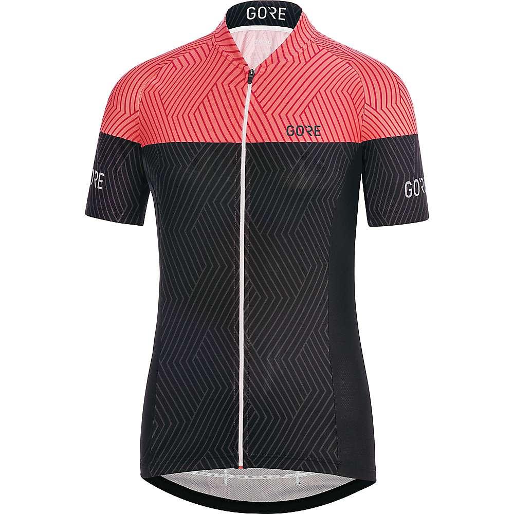 ゴア レディース 自転車 トップス【Bike Wear C3 Optiline Jersey】Black / Coral Glow