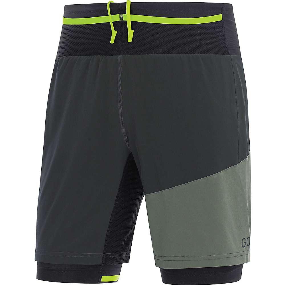 ゴア メンズ ランニング・ウォーキング ボトムス・パンツ【Running Wear R7 2IN1 Short】Terra Grey / Castor Grey