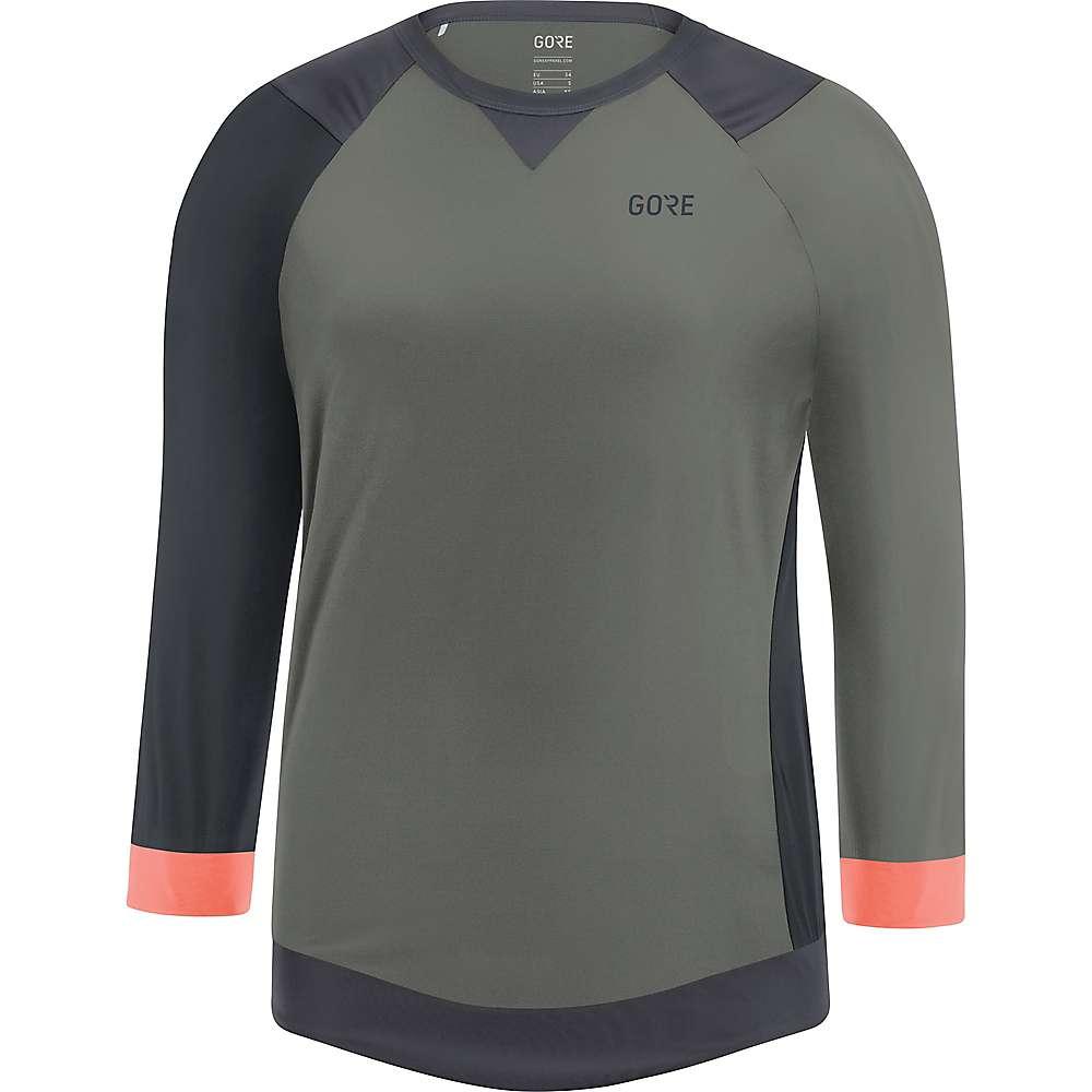ゴア レディース 自転車 トップス【Bike Wear C5 All Mountain 3/4 Jersey】Castor Grey / Terra Grey
