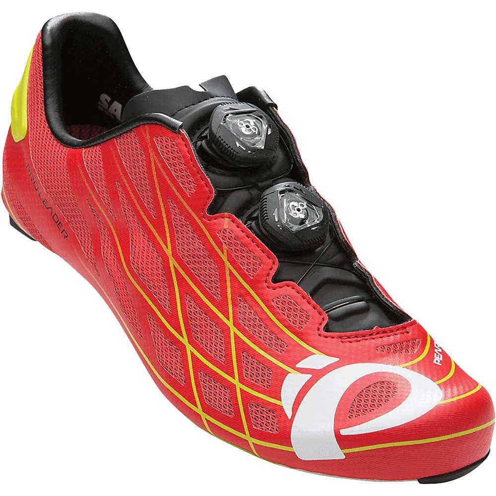 パールイズミ メンズ サイクリング シューズ・靴【Pearl Izumi PRO Leader III Shoe】True Red / Lime Punch