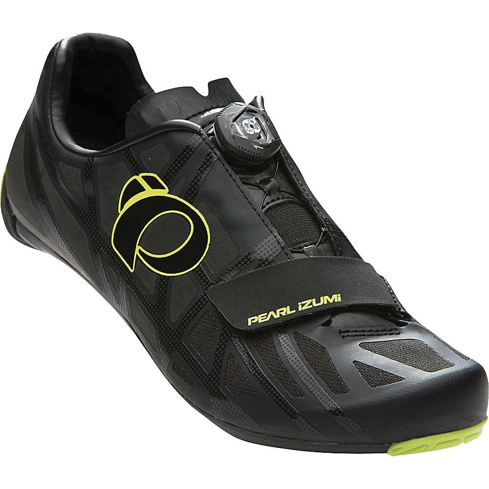 パールイズミ メンズ サイクリング シューズ・靴【Pearl Izumi Race Road IV Shoe】Black / Lime Punch