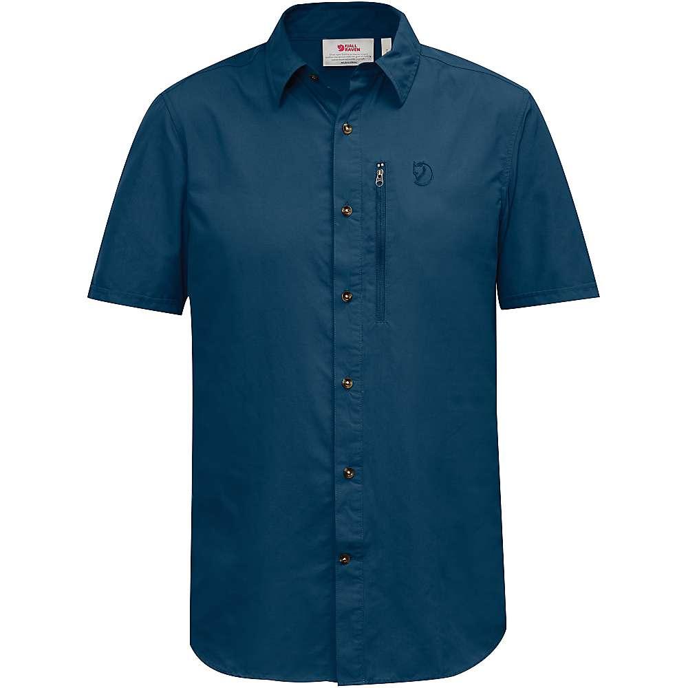 フェールラーベン メンズ トップス 半袖シャツ【Abisko Hike SS Shirt】Uncle Blue