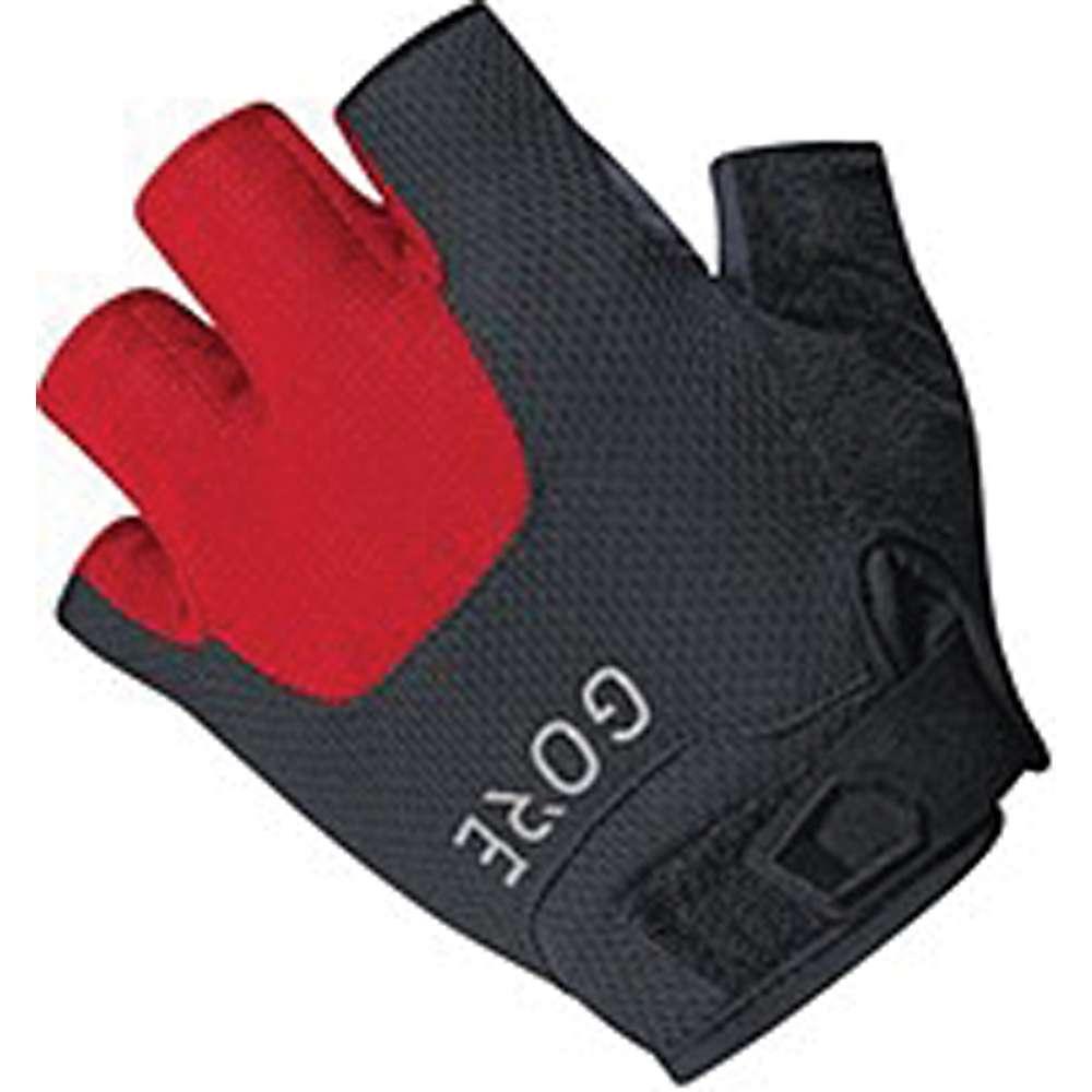 ゴア メンズ 自転車 グローブ【Bike Wear C5 Short Finger Trail Glove】Black / Red