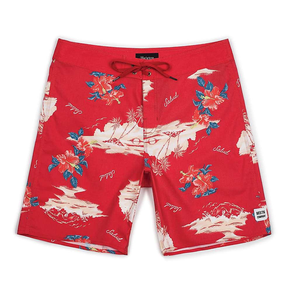 ブリクストン メンズ 水着・ビーチウェア 海パン【Barge Swim Trunk】Red / Cream